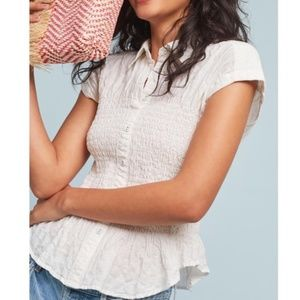 ANTHROPOLOGIE MAEVE Bellamy Button Down Top S